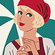 Flapper Girls: Retro Beach Character in 20's Style - GraphicRiver Item for Sale