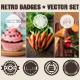 Retro Badges Vector Elements - GraphicRiver Item for Sale