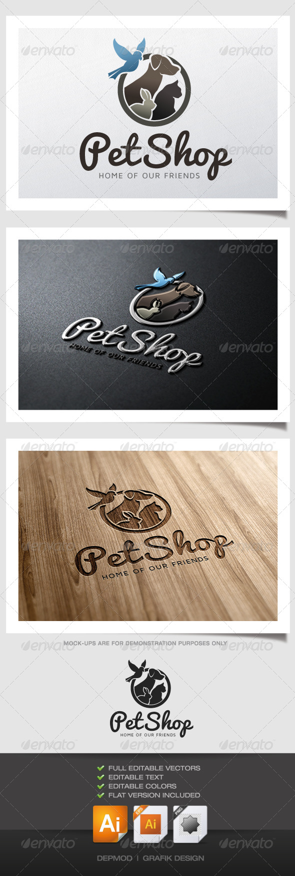 Pet Shop Logo V.02 - Animals Logo Templates