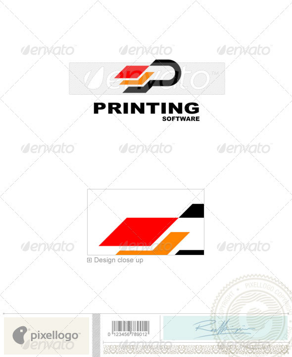 Print & Design Logo - 1055 - Vector Abstract