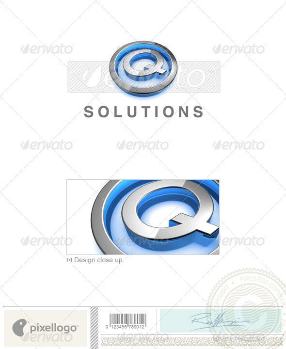 Q Logo - 3D-683-Q - Letters Logo Templates