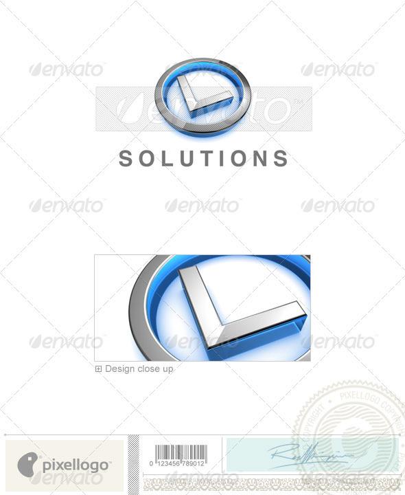 L Logo - 3D-683-L - Letters Logo Templates