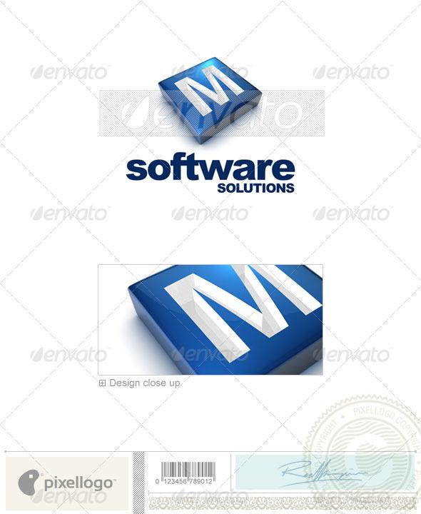 M Logo - 3D-644-M - Letters Logo Templates