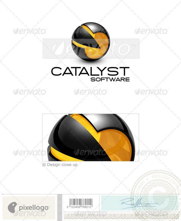 Technology Logo - 3D-665 - 3d Abstract