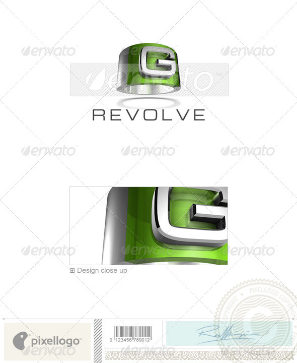 G Logo - 3D-547-G - Letters Logo Templates