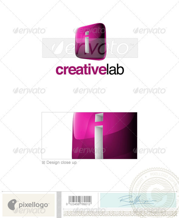 I Logo - 3D-687-I - Letters Logo Templates