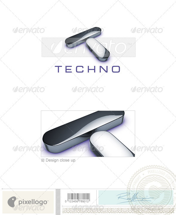 Technology Logo - 3D-690 - 3d Abstract