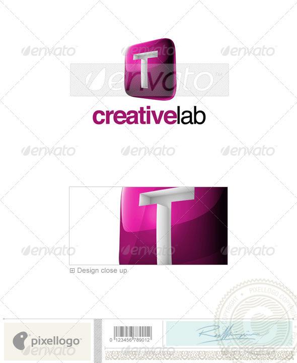 T Logo - 3D-687-T - Letters Logo Templates