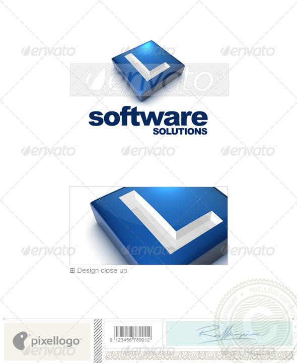 L Logo - 3D-644-L - Letters Logo Templates