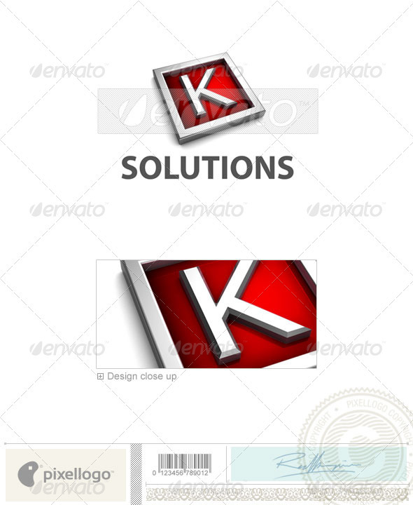 K Logo - 3D-549-K - Letters Logo Templates