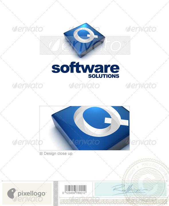Q Logo - 3D-644-Q - Letters Logo Templates