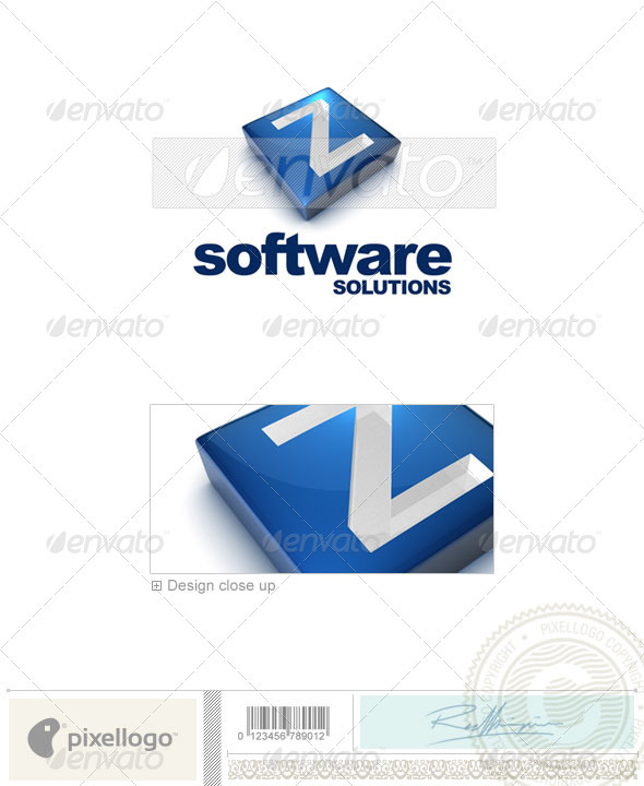 Z Logo - 3D-644-Z - Letters Logo Templates