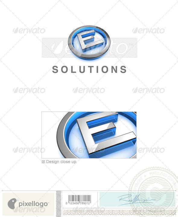 E Logo - 3D-683-E - Letters Logo Templates