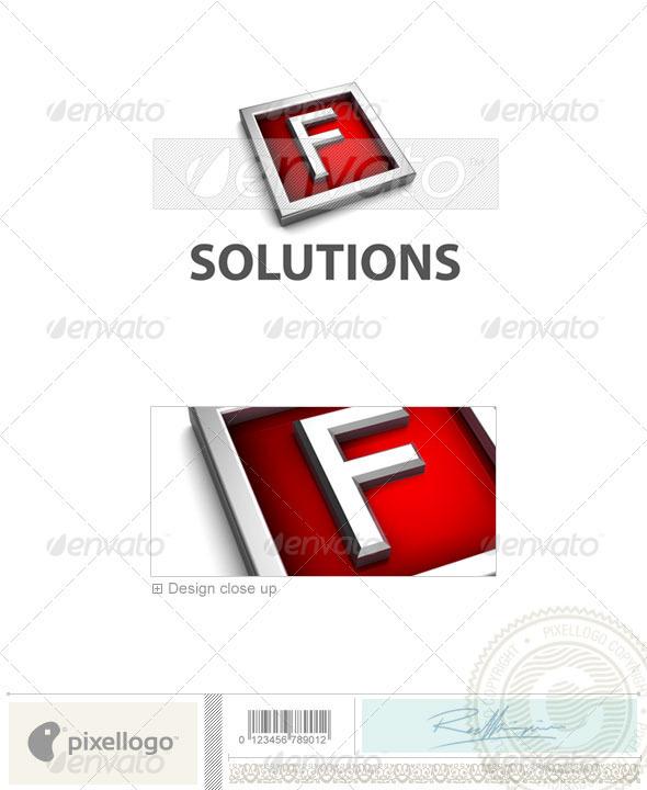 F Logo - 3D-549-F - Letters Logo Templates