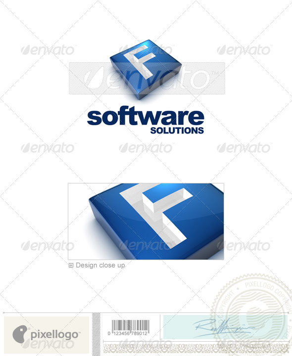 F Logo - 3D-644-F - Letters Logo Templates