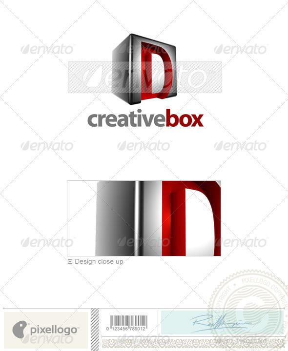 D Logo - 3D-554-D - Letters Logo Templates