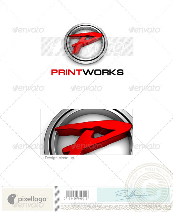 Print & Design Logo - 3D-679 - 3d Abstract