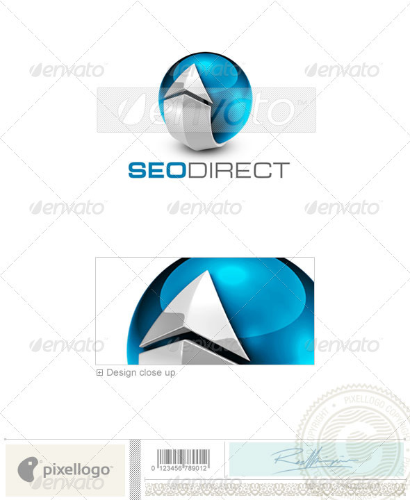 Internet Logo - 3D-719 - 3d Abstract