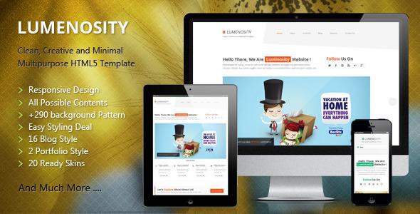 LUMENOSITY – Multipurpose Responsive HTML5 Theme