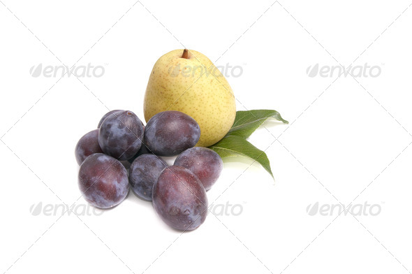 Tasty,ripe fruits on a white. - Stock Photo - Images