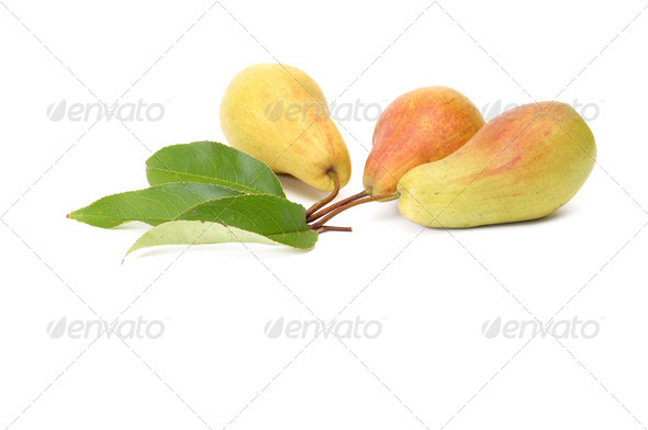 Splendid,tasty pears on a white. - Stock Photo - Images