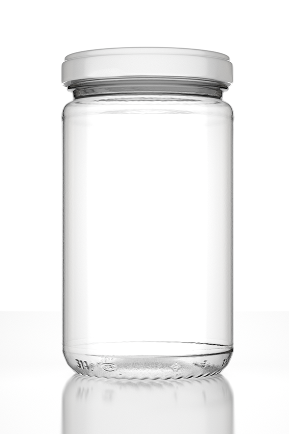 Photorealistic  Empty Jar with Lid and Lab - 3DOcean Item for Sale