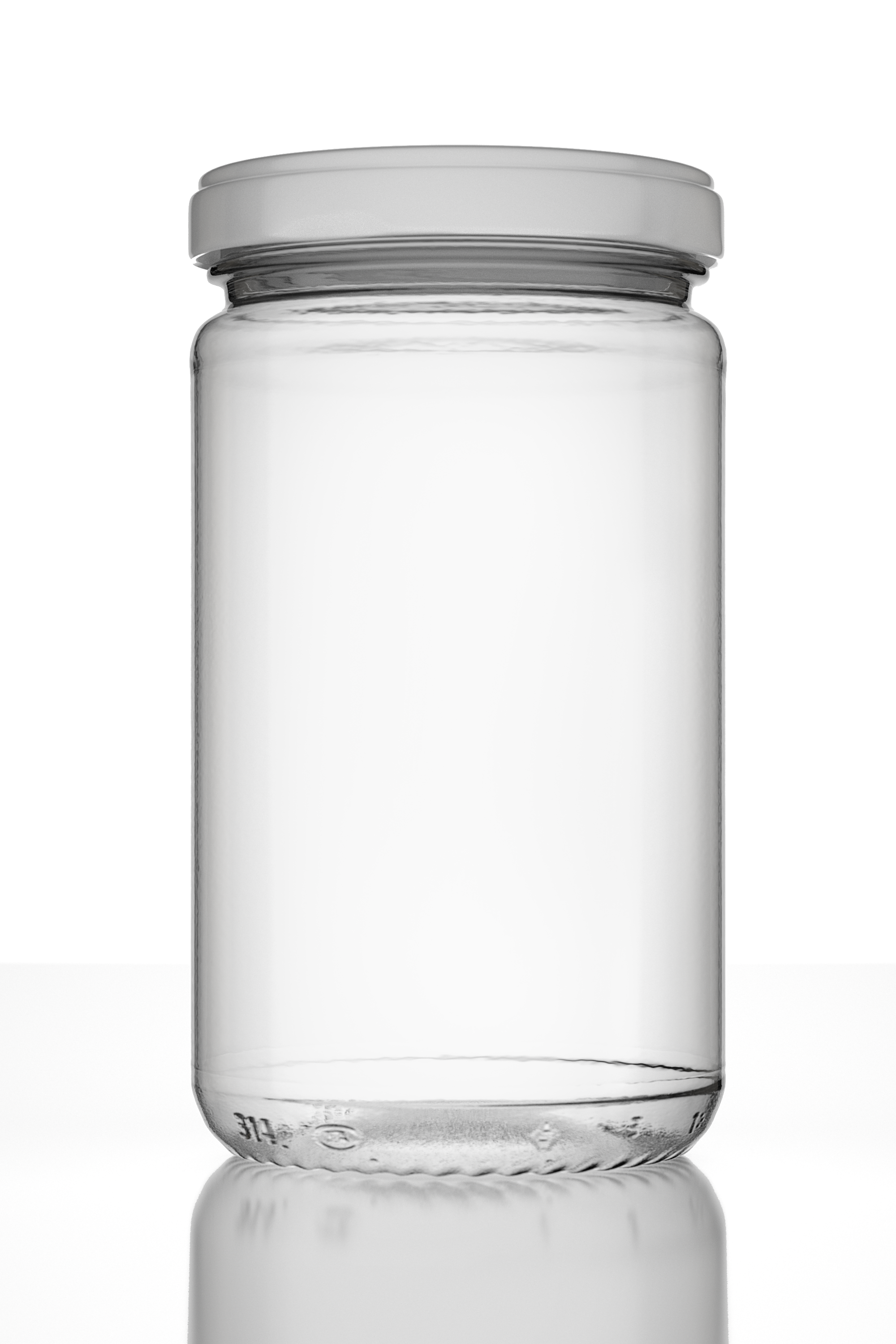 Photorealistic Empty Jar With Lid And Lab By Mario Teodoru