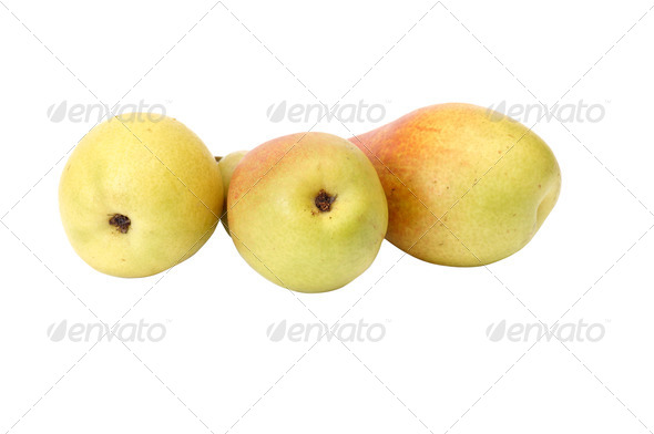 Juicy,tasty pears on a white. - Stock Photo - Images