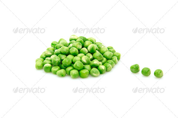 Green peas isolated on a whiteground. - Stock Photo - Images