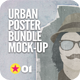 Urban Poster Mock-Up Bundle - GraphicRiver Item for Sale