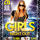 Girls Night Out Flyer Template - GraphicRiver Item for Sale
