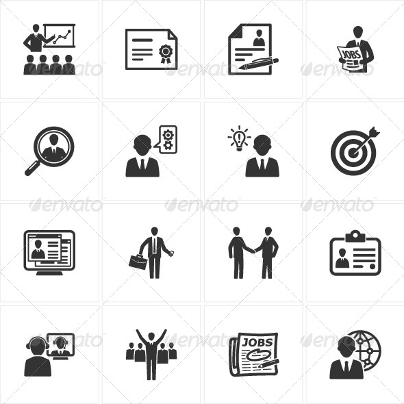 Employment and Business Icons - Web Icons