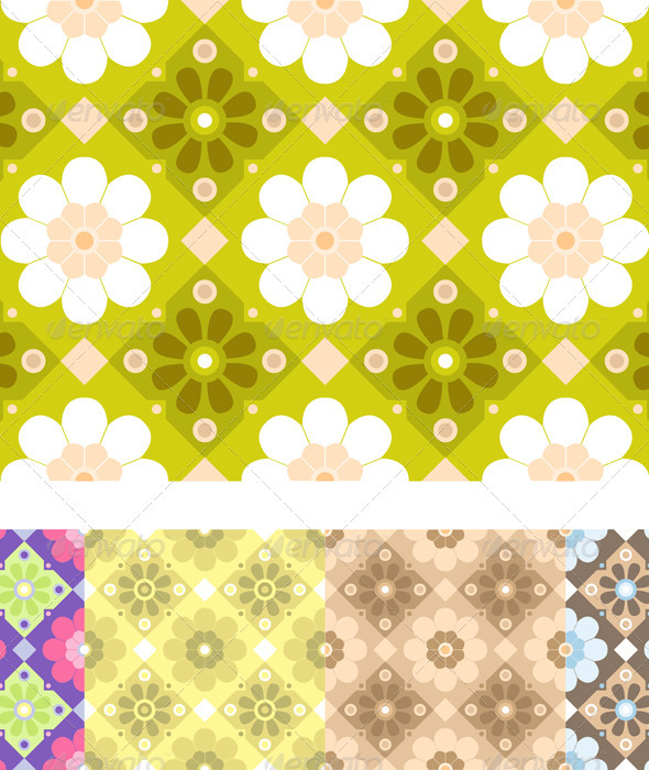 vector seamless floral pattern - Backgrounds Decorative