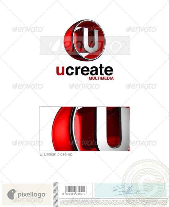 U Logo - 3D-438-U - Letters Logo Templates