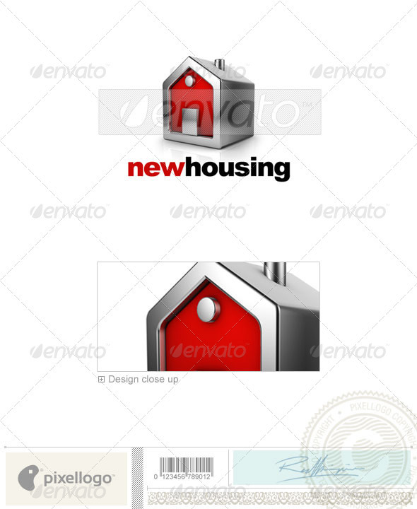 Home & Office Logo - 3D-583 - 3d Abstract