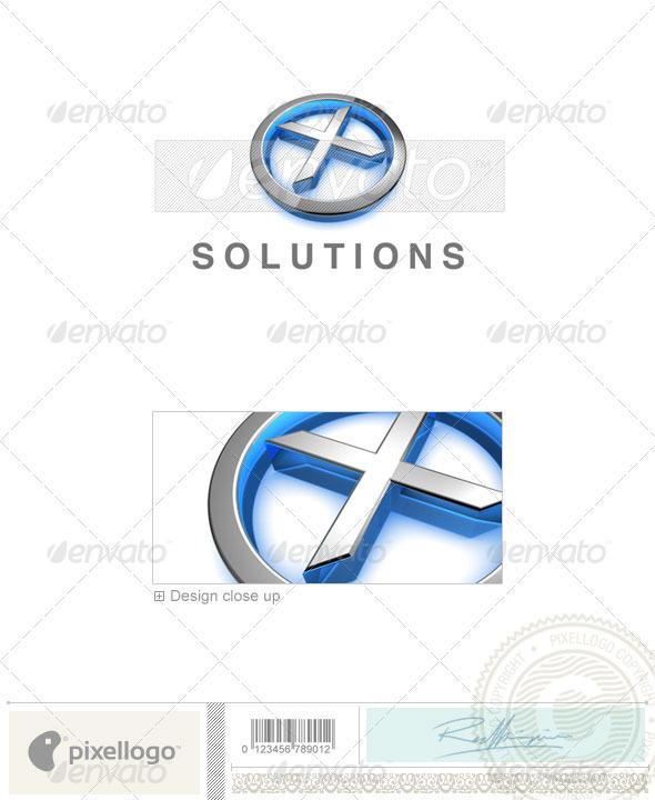 X Logo - 3D-683-X - Letters Logo Templates
