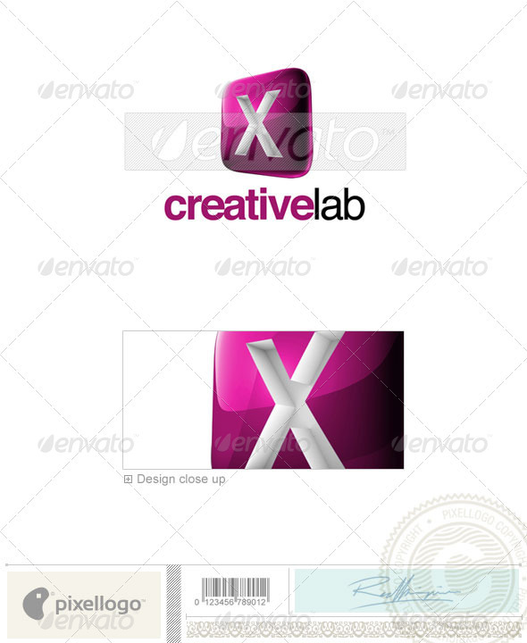 X Logo - 3D-687-X - Letters Logo Templates