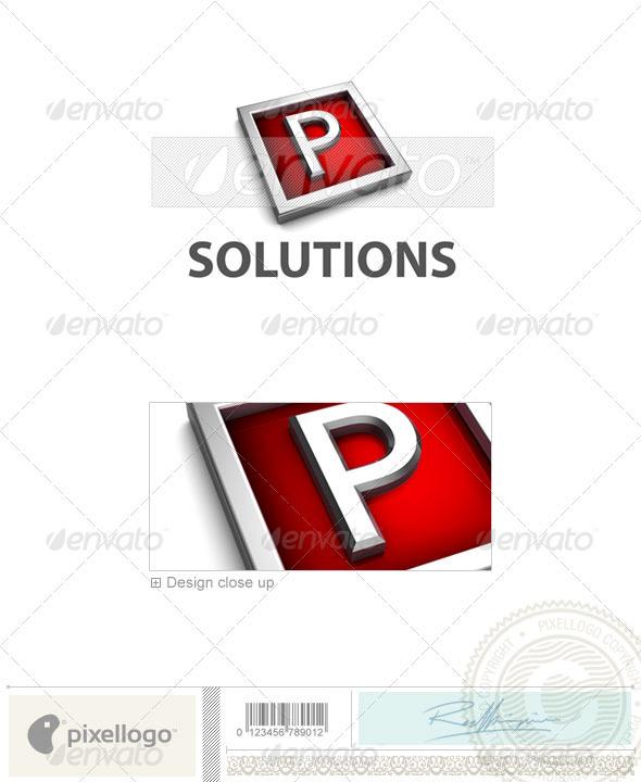 P Logo - 3D-549-P - Letters Logo Templates