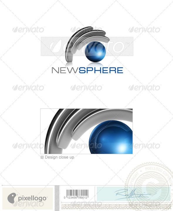 Technology Logo - 3D-541 - 3d Abstract