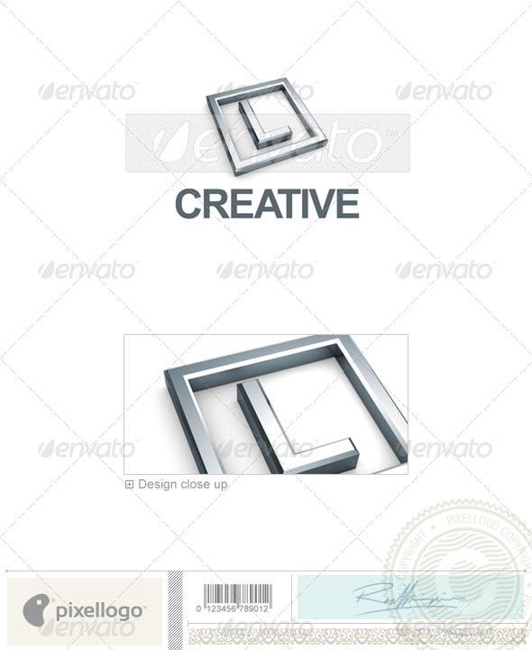 L Logo - 3D-295-L - Letters Logo Templates