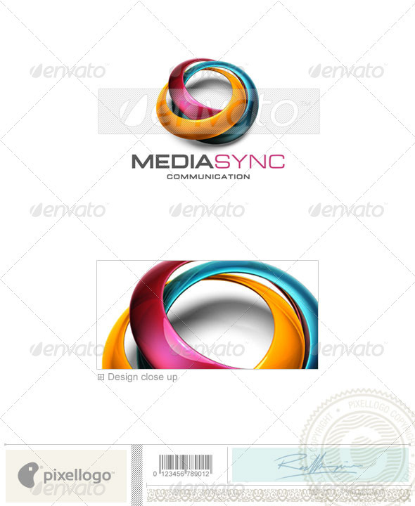 Communications Logo - 3D-539 - 3d Abstract