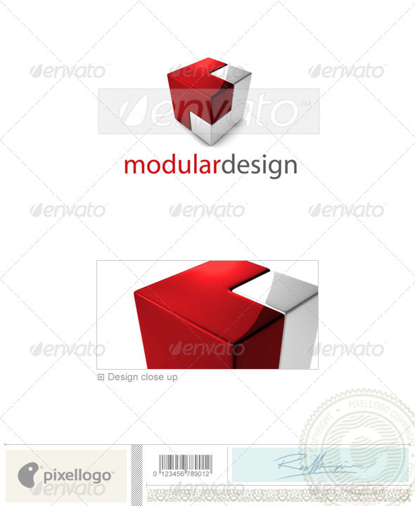 Technology Logo - 3D-696 - 3d Abstract