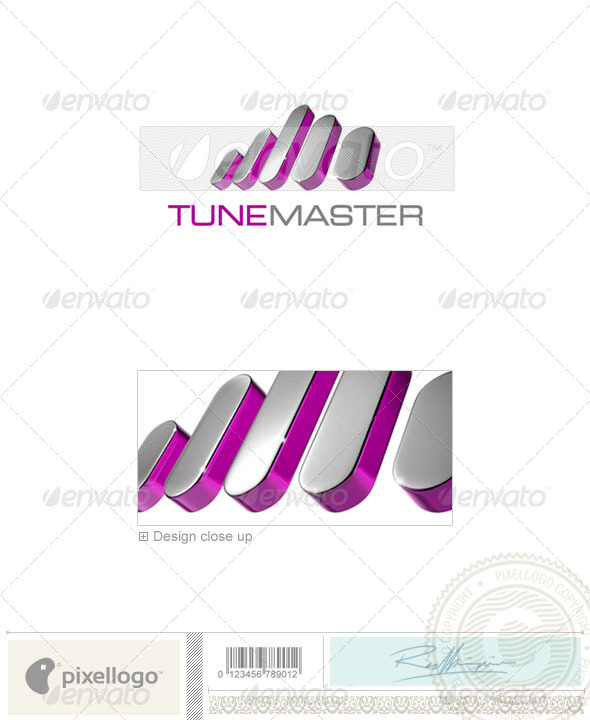 Music Logo - 3D-712 - 3d Abstract