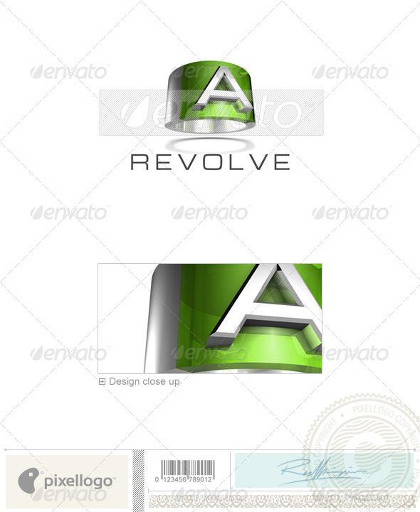 A Logo - 3D-547-A - Letters Logo Templates