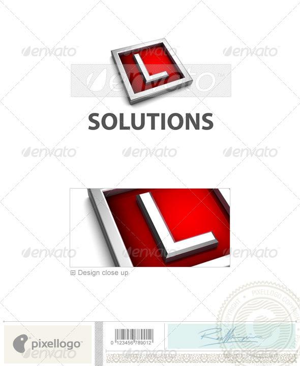 L Logo - 3D-549-L - Letters Logo Templates