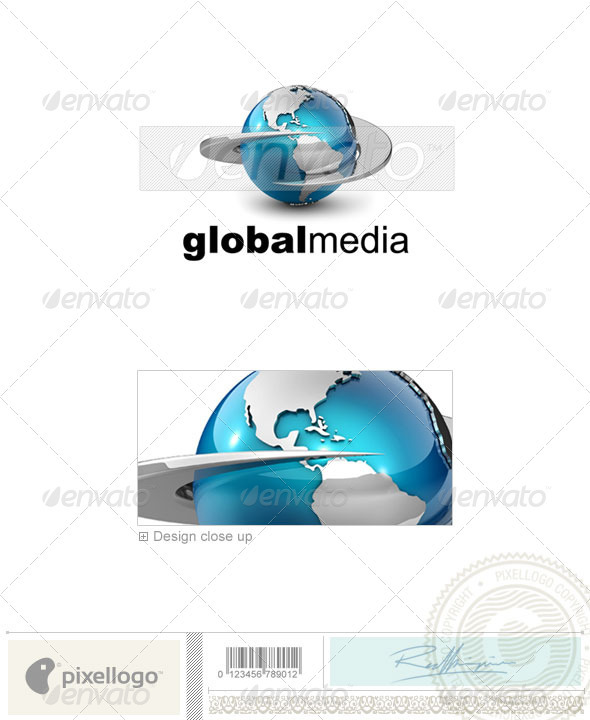 Communications Logo - 3D-557 - 3d Abstract
