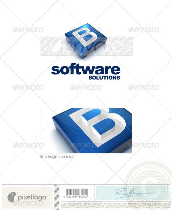 B Logo - 3D-644-B - Letters Logo Templates