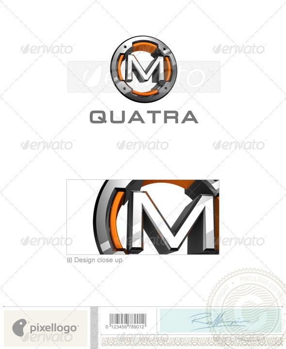 M Logo - 3D-494-M - Letters Logo Templates
