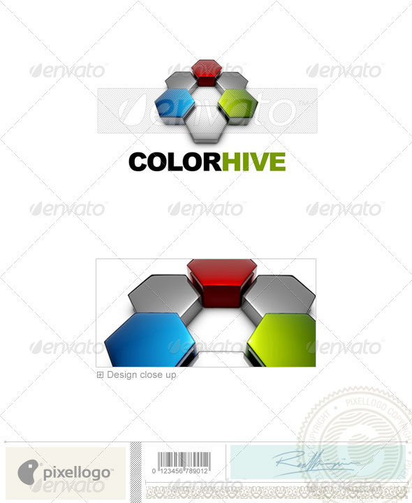 Print & Design Logo - 3D-579 - 3d Abstract