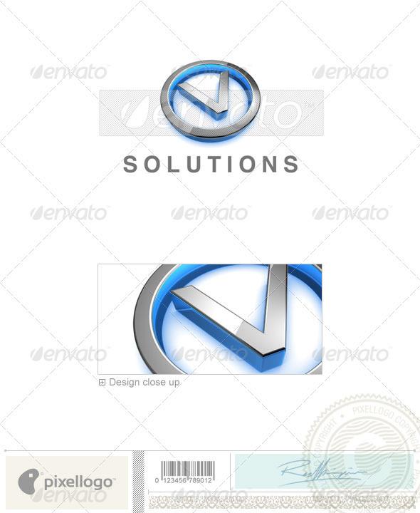 V Logo - 3D-683-V - Letters Logo Templates